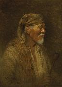 Portrait Of A Pomo Chief, 1912. by Grace Carpenter Hudson
