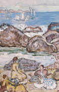 By The Sea by Maurice Prendergast