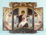 Mother And Child Enthroned With Angels. Triptych, 1903. by Alois Hans Schramm