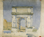 Rome Arch Of Titus. (1868-1928). Pencil And  1891.