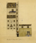 London: Elevation of Proposed Studio in Glebe Place and Upper Cheyne Walk 1920