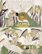 Apocalypse. An Angel Threatening Followers Of The Beast and An Angel, Ca.1465 by St. John