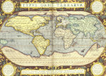Map Of The World, Theatrum Orbis Terrarum, 1594 by Abraham Ortelius