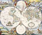 Wall-Map Of The World, C. 1696 by Cornelis Danckerts