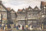 Little Moreton Hall, Cheshire from 'The Mansions Of England In The Olden Time', 1839 by Joseph Nash