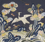 Mandarin Square Depicting an Egret by Christie's Images