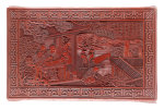Detail From A Red Lacquer Rectangular Low Table Top by Christie's Images