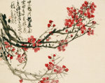Plum Blossoms, 1905 by Wu Changshuo