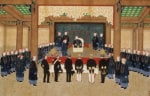 A Mandarin Receiving An Embassy Of European Diplomats At His Court, Circa 1860 by Zhou Pei Chun