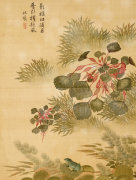 Water Caktrios And Frog, 1702 by Ma Yuanyu