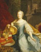 Portrait Of The Empress Maria-Theresa, 1749 by Johann Gottfried Auerbach