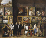 Archduke Leopold Wilhelm In His Picture Gallery by David Teniers