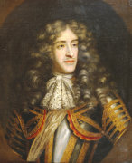 Portrait Of James, Duke Of York (1633-1701) As Lord High Admiral by Henri Gascars