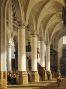A Church Interior by Heinrich Hansen