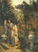 In A Japanese Garden by Edouard Castres