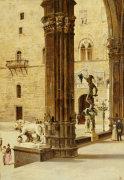 La Loggia Dei Lanzi, Florence by Antonietta Brandeis