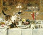 After Dinner by Louis Eugene Lambert