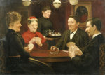 The Game Of Bridge, 1891 by Malthe Odin Engelstedt