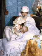 Motherly Love, 1883 by Ferenc Innocent