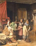 In The Studio, 1882 by Wenzel Tornoe