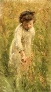 Picking Flowers by Bertha Wegmann