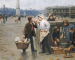 The Little Traders. 1900 by Paul Charles Chocarne-Moreau