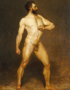 A Male Nude by Hans Von Staschiripka Canon