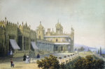 Vorontsov Palace At Alupka, Yalta, Crimea, 1843 by Carlo Bossoli