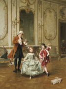 The Dancing Lesson by Charles Edouard Delort