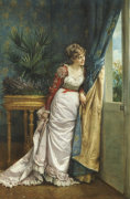 Awaiting The Visitor, 1878 by Auguste Toulmouche