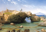 A Rocky Coast With Vesuvius Beyond, 1873 by Carl Frederic Aagaard