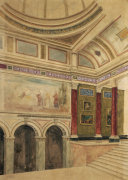 The Entrance Hall Of The National Gallery, London: Scheme For The Painted Decoration, Circa 1887 by John Dibblee Crace