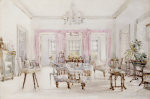 The Drawing Room Of Queen's House, Barbados, Circa 1880 by Lionel Grimston Fawkes