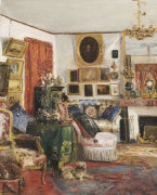 An Interior Of A Sitting Room, 1882 by Gustave de Launay