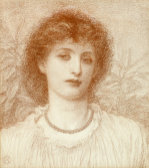 Portrait Of A Lady, Bust Length by Alice May Chambers