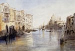 The Grand Canal with Santa Maria Della Salute Venice Italy 1865