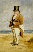 Portrait Of Joseph Mallord William Turner, R.A., 1849 by Charles Martin