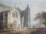 The North Porch Of Salisbury Cathedral, C. 1796 by Joseph Mallord William Turner