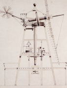 Drawings For Windmills. A Smock Mill, 1814 by John Farey Jun