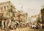 A Busy Street Scene In India, 1858 by William Prinsep