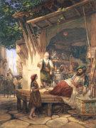 La Rue Bab-A-Zoun, Algiers by William Wyld