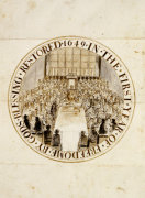 A Design For The Great Seal Of England Under The Commonwealth, 1649 by Simon Thomas