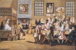 Scene In A London Coffee House, C. 1695 by English School