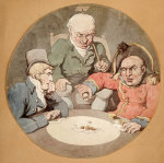 A Game Of Dice by Thomas Rowlandson