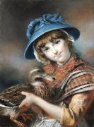 A Market Girl Holding A Mallard Duck, 1787 by John Russell