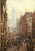 Fleet Street, 1892 by Rose Maynard Barton