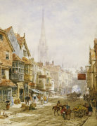The High Street, Salisbury by Louise Rayner