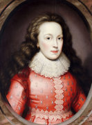 Portrait Of A Lady Called Alathea, Countess Of Arundel, 1619 by Cornelius Johnson