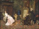 The Artist's Studio, 1879 by W.S. Gordon