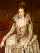 Portrait Of Queen Anne Of Denmark by John de Critz